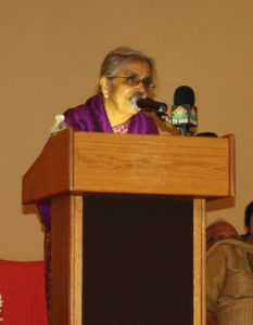 Uma Mysorekar, MD, was the chief guest speaker at the inaugural ceremony.