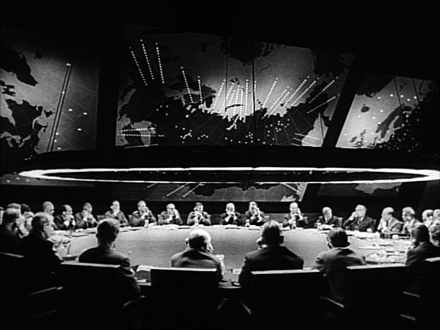 The War Room with the Big Board from Stanley Kubrick's 1964 film Dr. Strangelove