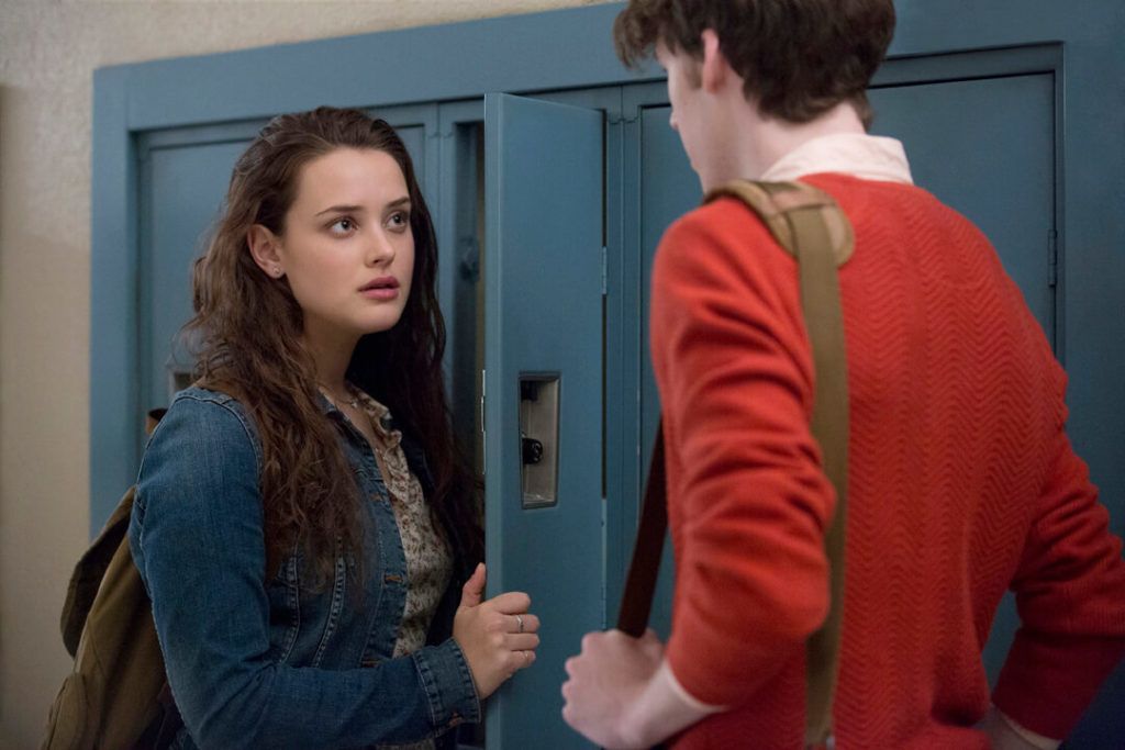 Katherine Langford and Devin Druid in 13 Reasons Why (Photo by Beth Dubber/Netflix)